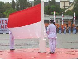 Gubernur Pimpin Upacara HUT RI di Lapangan Merdeka